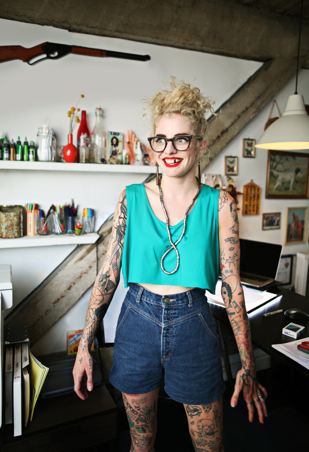 Shannon Perry at   Valentines' Tattoo Co.