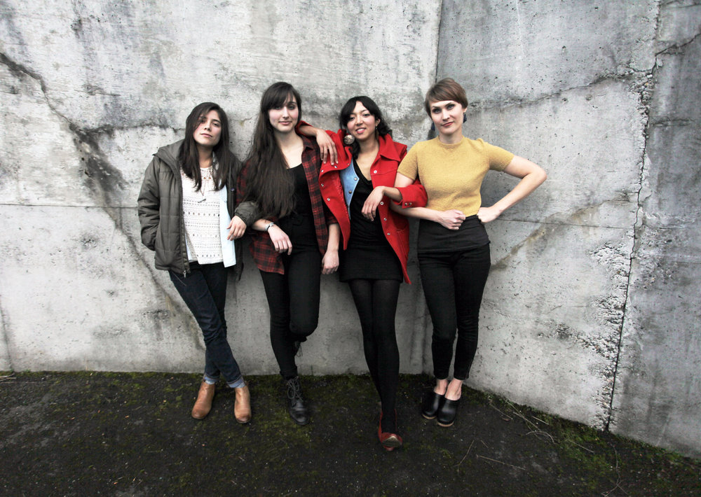 Band promo shot for La Luz, published in  Interview  Magazine