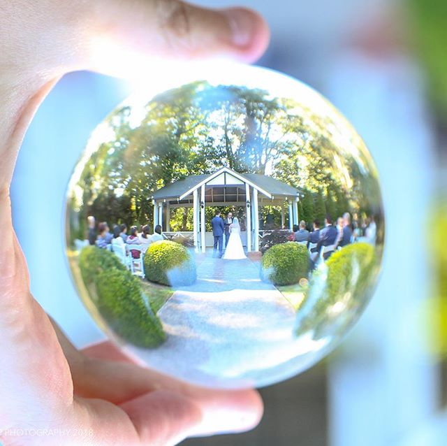 "Joanne & Ed saying their ""I do's"" #wedding #love #weddingphotography #hpphotographyau #lensball"