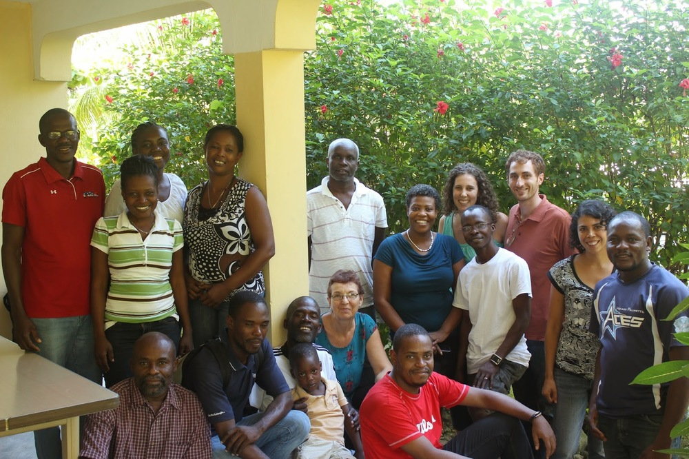 Almost all of the MCC Haiti team at our MCC konbit