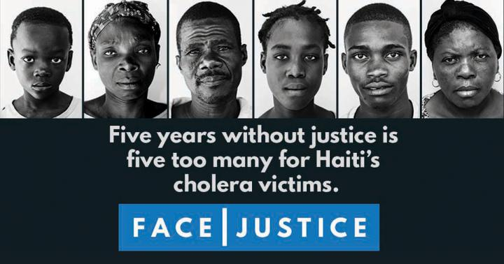 To bring attention to the cholera epidemic in Haiti and the UN's responsibility to do more for its victims, MCC partnered with InsideOut and several other Haitian and U.S.-based organizations to create the FACE|JUSTICE campaign.