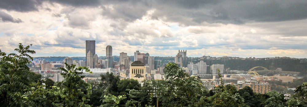 Pittsburgh Skyline from our house in the North Side.
