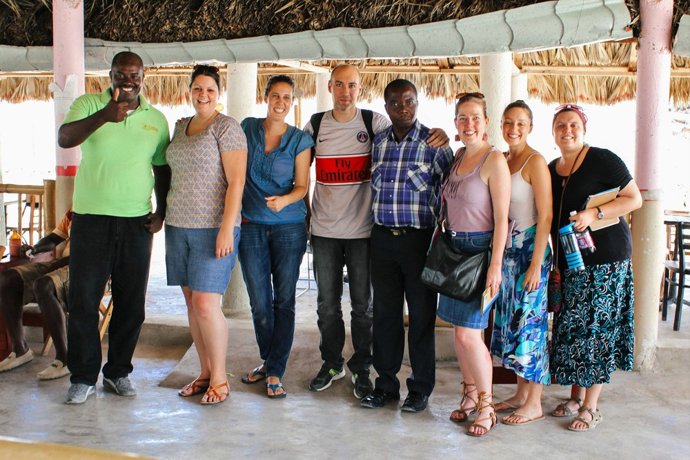 Members of CODDEMIR and the Dominican human rights organization Centro Bono with the MCC team in Malpasse. Ted Oswald.
