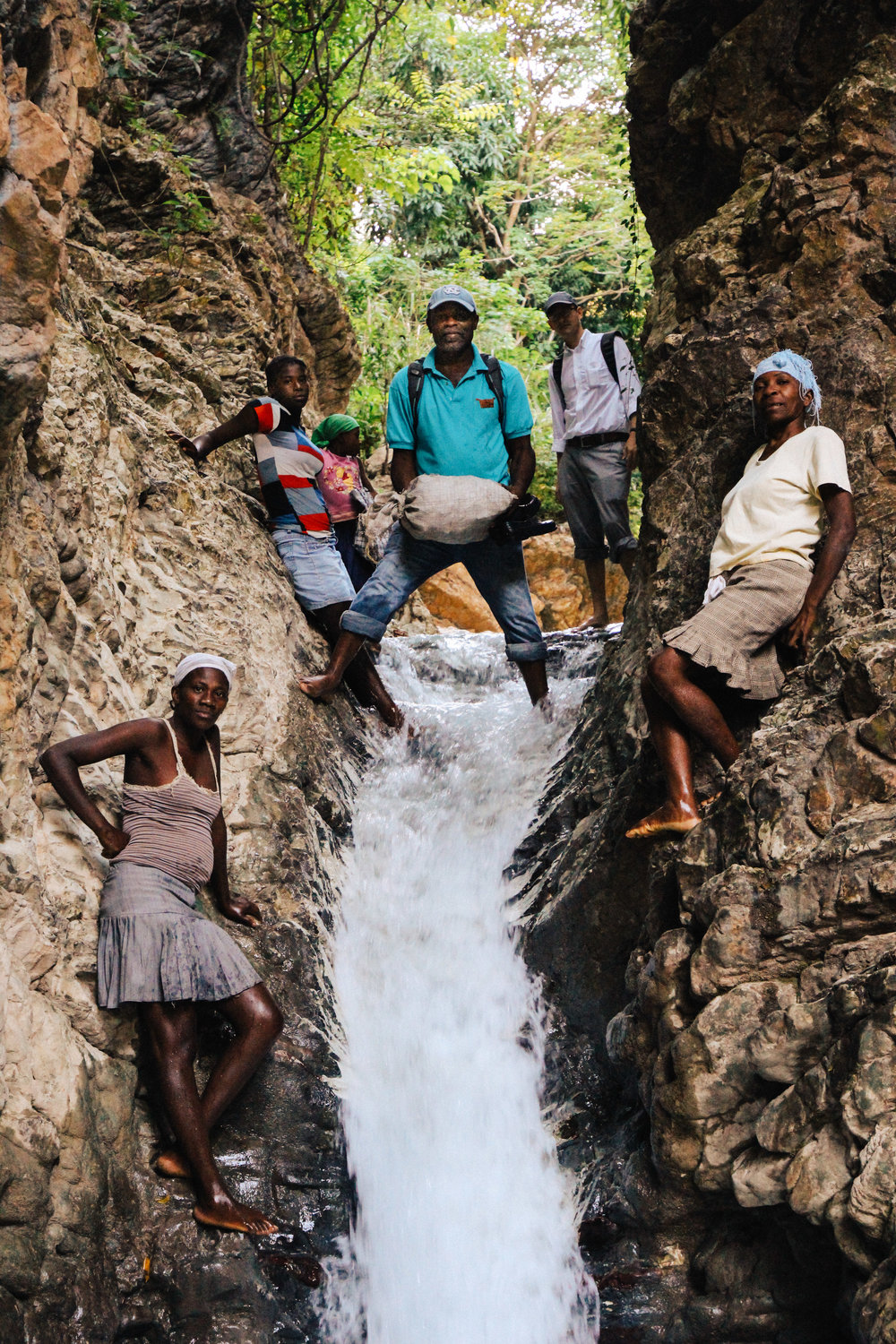 The shortest route to reach medical assistance from Wopisa requires descending this waterfall.