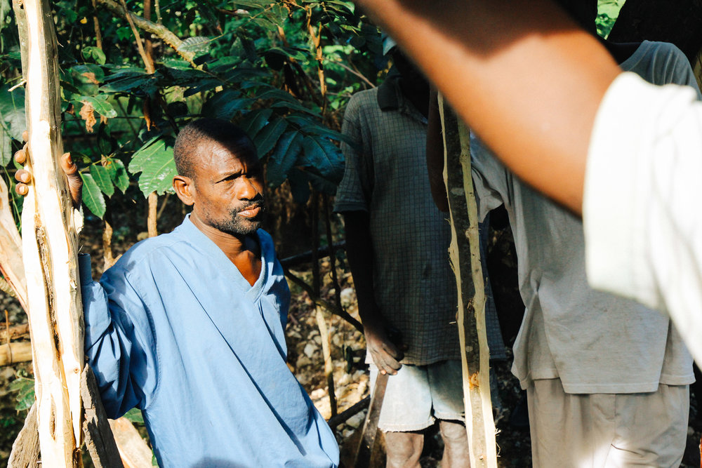 "Elius Pierre contracted cholera recently: ""I wanted to die it was so painful. I am still not the same person I was before. I used to be strong and now I can barely eat. I spent 11 days in the hospital. I truly thought I was dead."" Elius and his family will be able to build a latrine as part of this project."