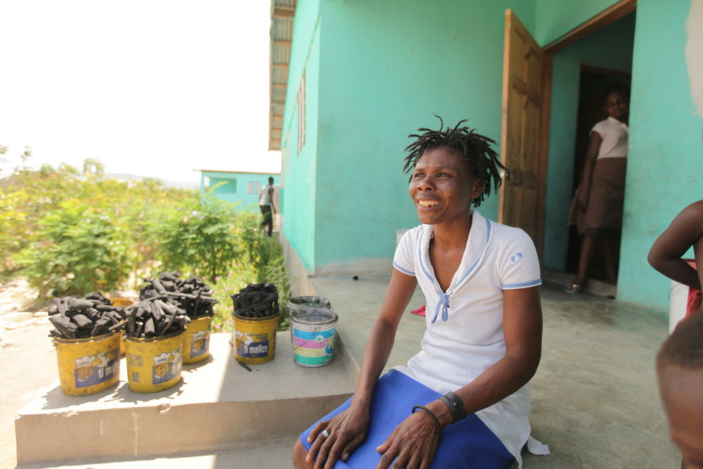 MCC worked with Haitian partner SKDE  to build a 50 duplex homes for 100 families in Cabaret, about 25 miles outside of Port au Prince. Andrea Vilme and her children moved into one of these houses after spending three years in a tent camp after the earthquake.