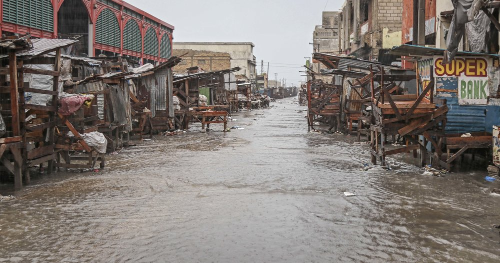 The aftermath of Hurricane Matthew in downtown Port-au-Prince.