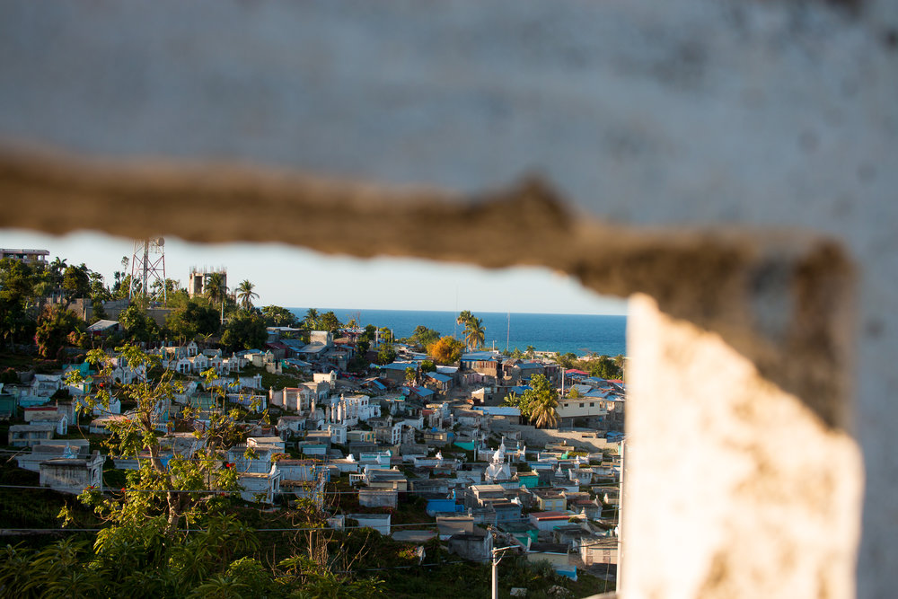 A view over the city of Jeremie, on Haiti's southwestern coast. Jeremie suffered significant damage after Hurricane Matthew in 2016, and while some of that damage remains visible, the city is recovering.