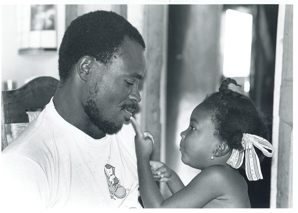 Jean-Remy Azor with his daughter, Jeanida, in 1994.