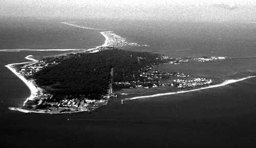 A photo of Dauphin Island present day