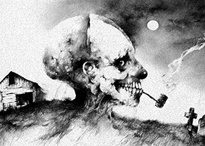 """Scary Stories to Tell in the Dark"", Illustration by Stephen Gammell"