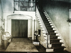 Pictured: front hall Dearing-Bagby House, Tuscaloosa 1939