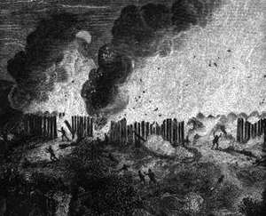 Illustration of the massacre