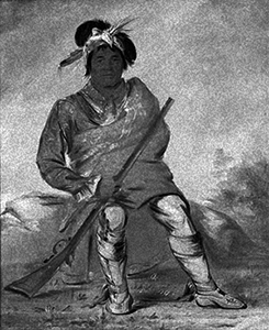 Painting of a Yuchi Indian