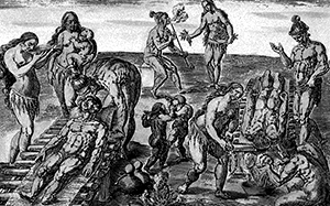 Illustration of Natives suffering from smallpox