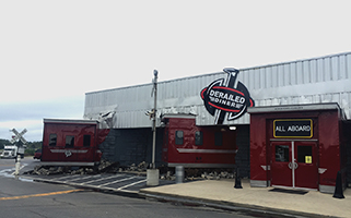 Photo of entrance of Derailed Diner