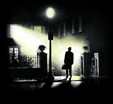"The cover of the infamous film ""The Exorcist"""