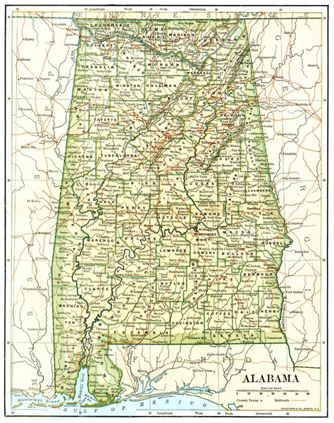 Eccentric Excursions Northern Alabama The Serpents Of Bienville - Map of northern alabama