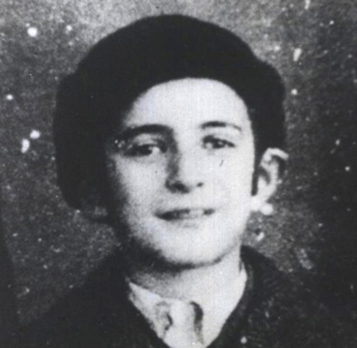 A young Elie Wiesel, prior to his time at Buchenwald