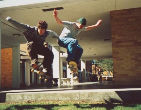 Picture of myself skateboarding in Mobile almost 20 years ago.