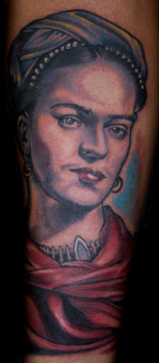 Frida Kahlo tattooed by Sean Herman