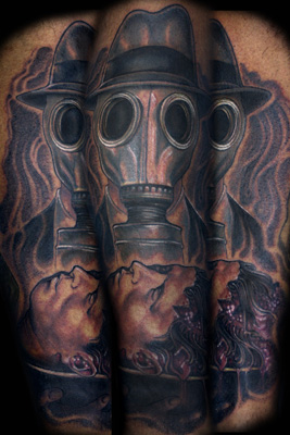 Tattoo on Robert Waldrup by Sean Herman