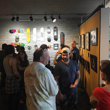 a picture from the Skateboard Art Show