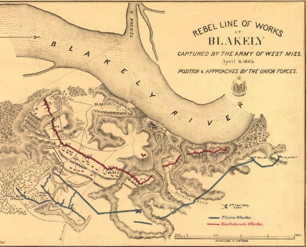 blakely civil war map 16x20 the serpents of bienville