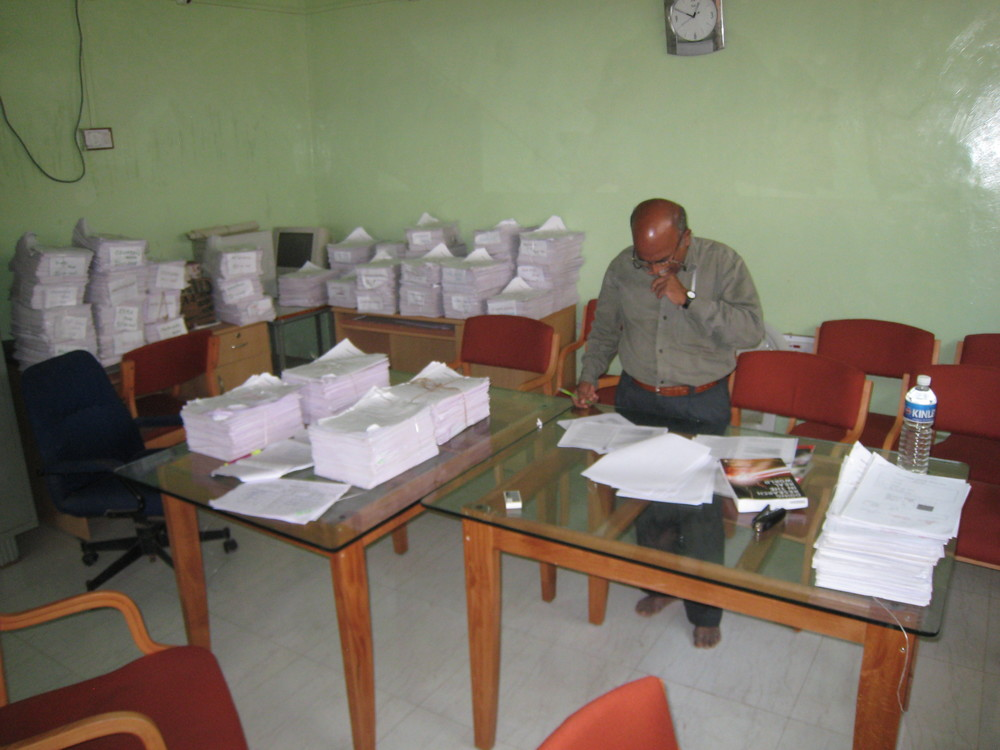 Checking forms, Jamkhed project