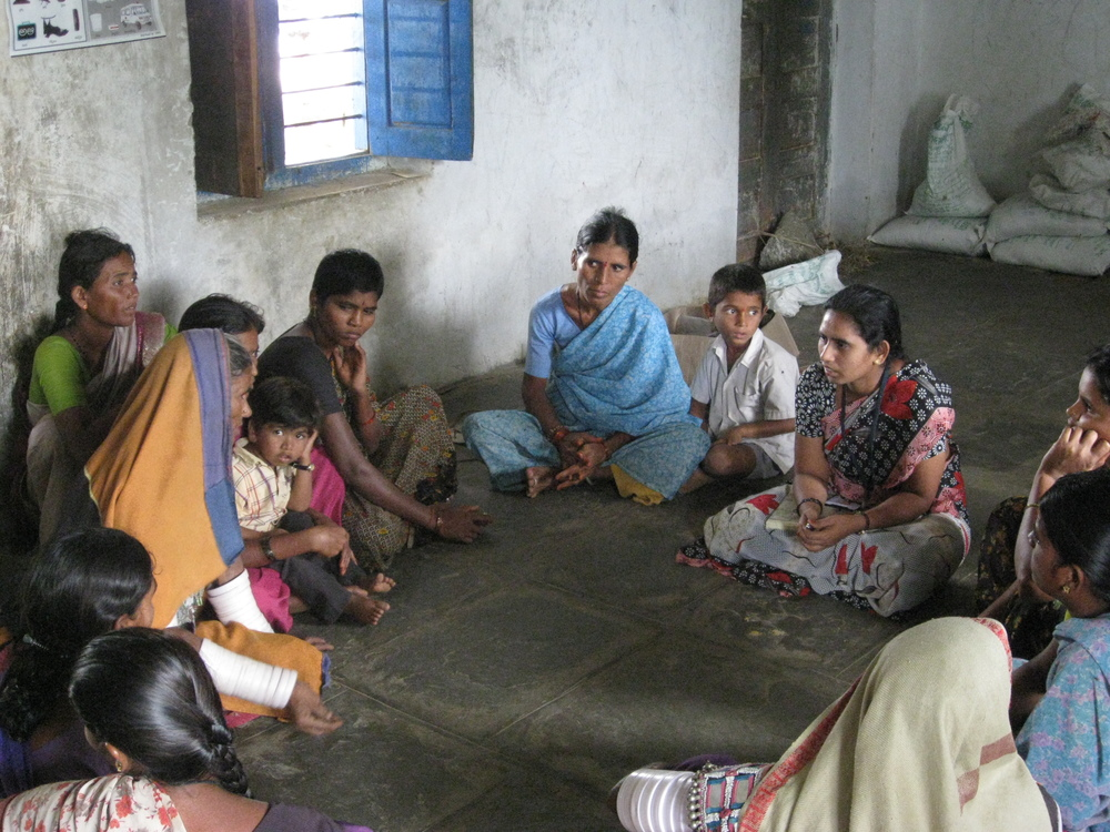 Participatory discussion group for expecting mothers and family, Telangana, India