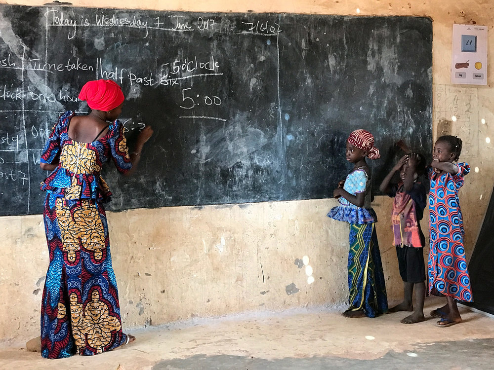 In class, Gambia