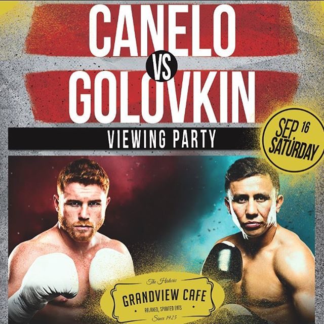 We're showing Canelo vs Golovkin this Saturday on every single one of our Tv's! This viewing party is open to the public, tag a friend you would like to watch the fight with!