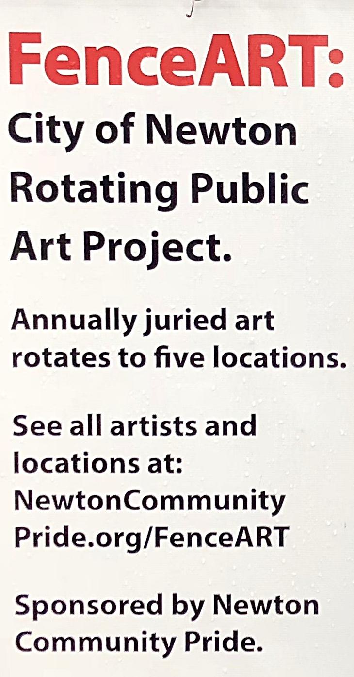 newton fence art