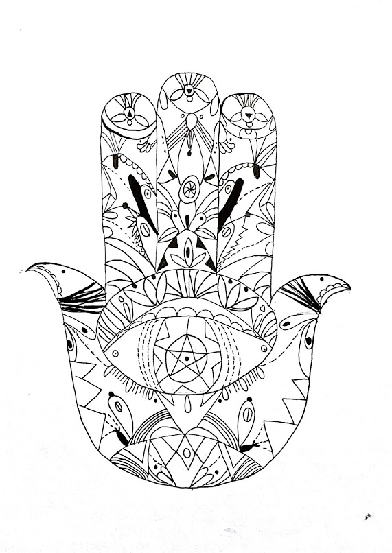 Doodles Coloring Book Page