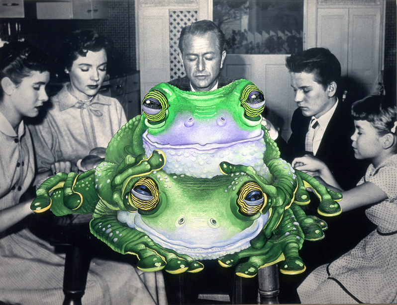 Father Knows Frogs-48x52