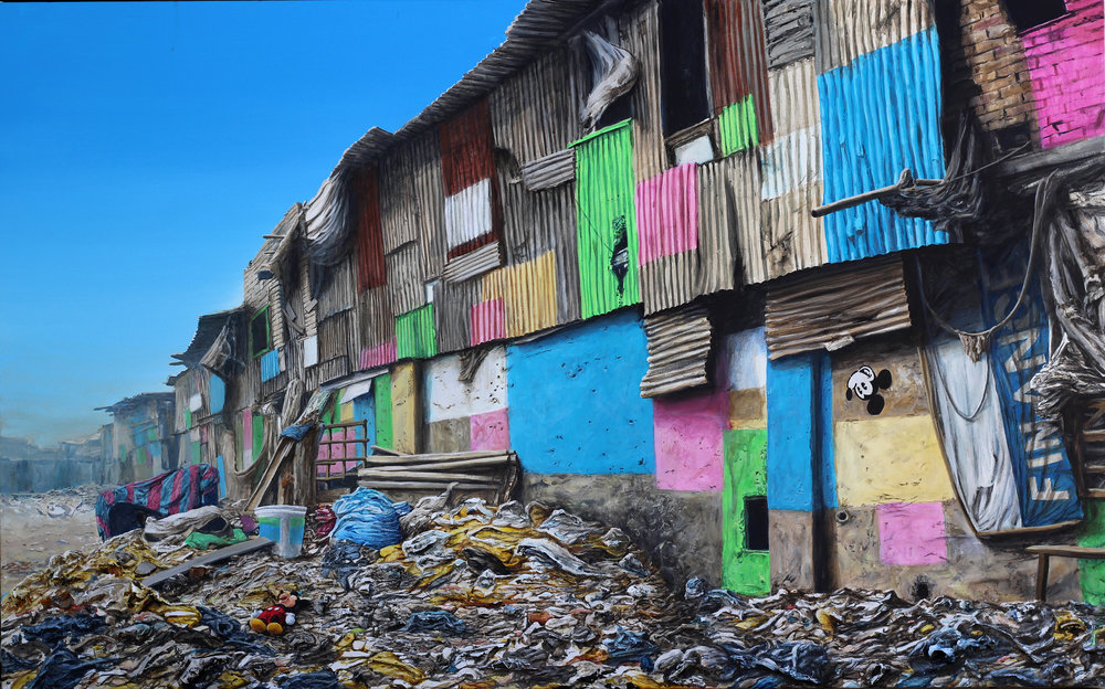 Slum Rehabilitation Authority_left 21 x 48 acrylic on canvas.jpg