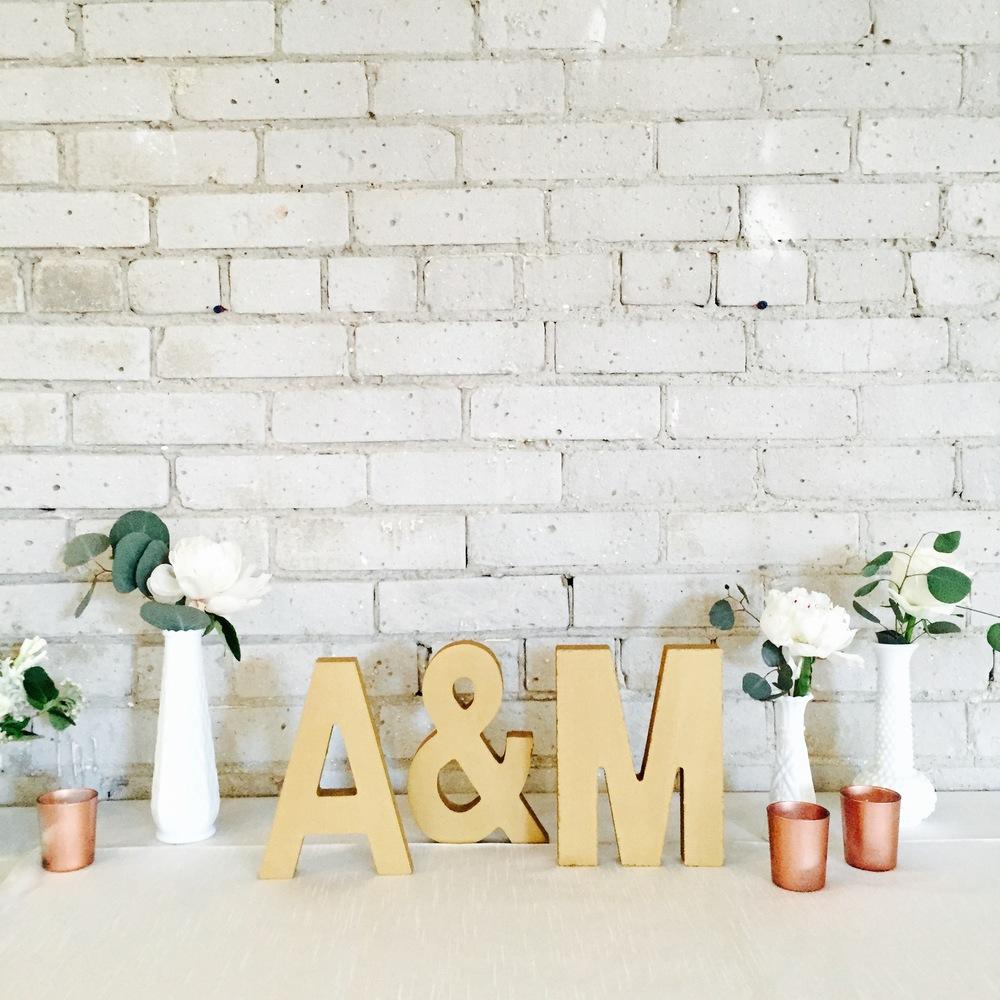 Big Love Wedding Design - Blush & Gold wedding bigloveweddings.ca