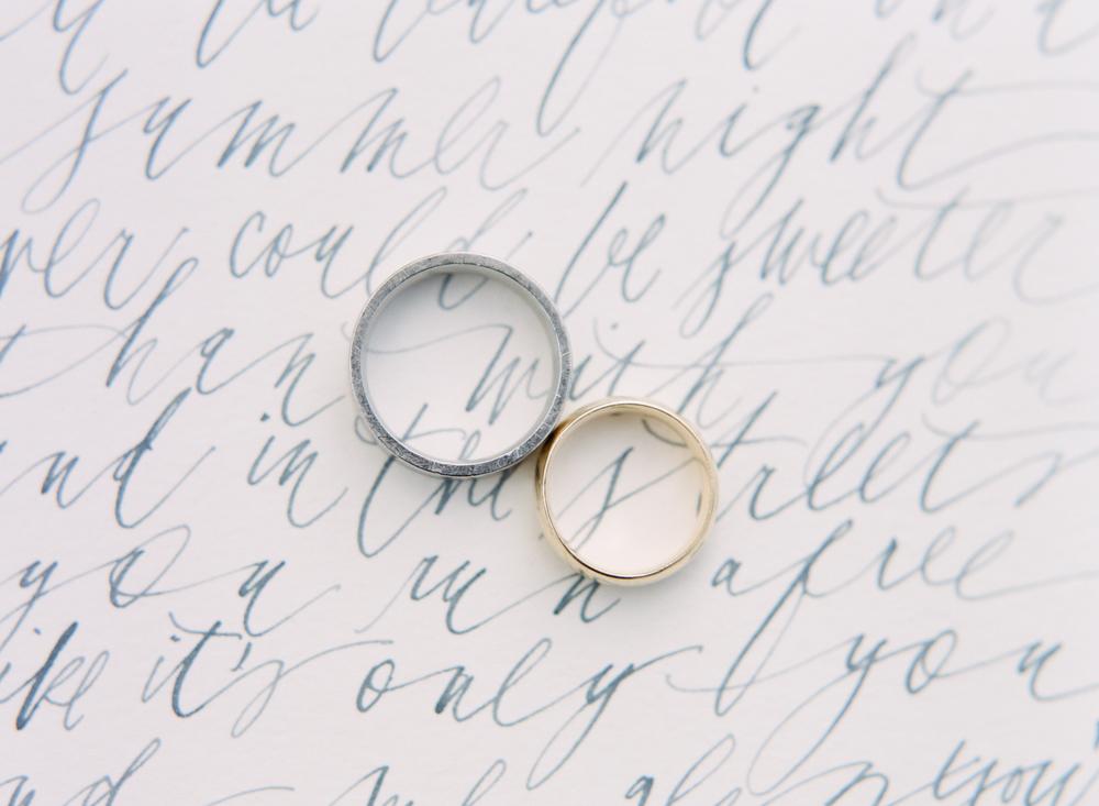 Big Love Wedding Design, calligraphy invitation, Toronto Vow Renewal