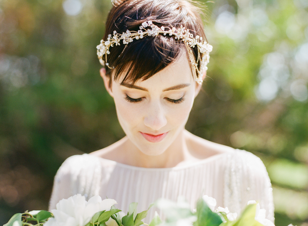 Big Love Wedding Design, halo headpiece, Toronto Vow Renewal