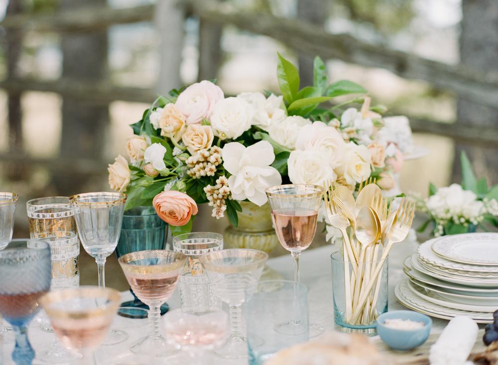 Big Love Wedding Design, family style, loose garden centerpiece, Toronto Vow Renewal