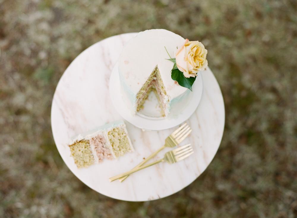 Big Love Wedding Design, blush mini cake, Toronto Vow Renewal