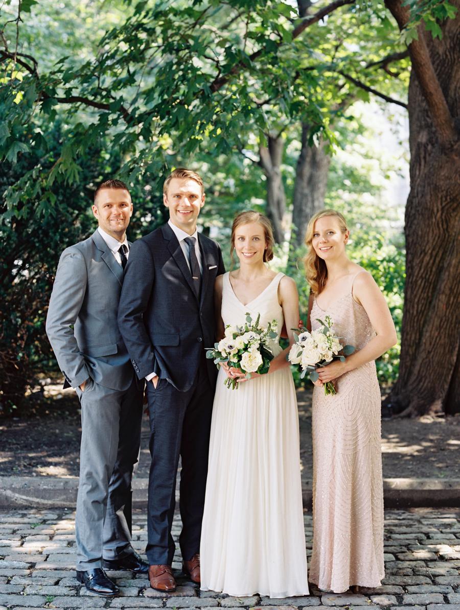 Big Love Wedding Design, Toronto Wedding, Boehmer, blush and navy wedding party
