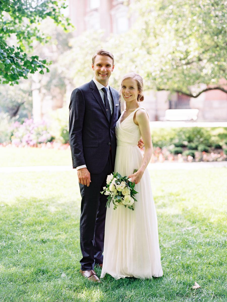 Big Love Wedding Design, Toronto Wedding, Boehmer, garden rose bouquet, JCrew wedding gown