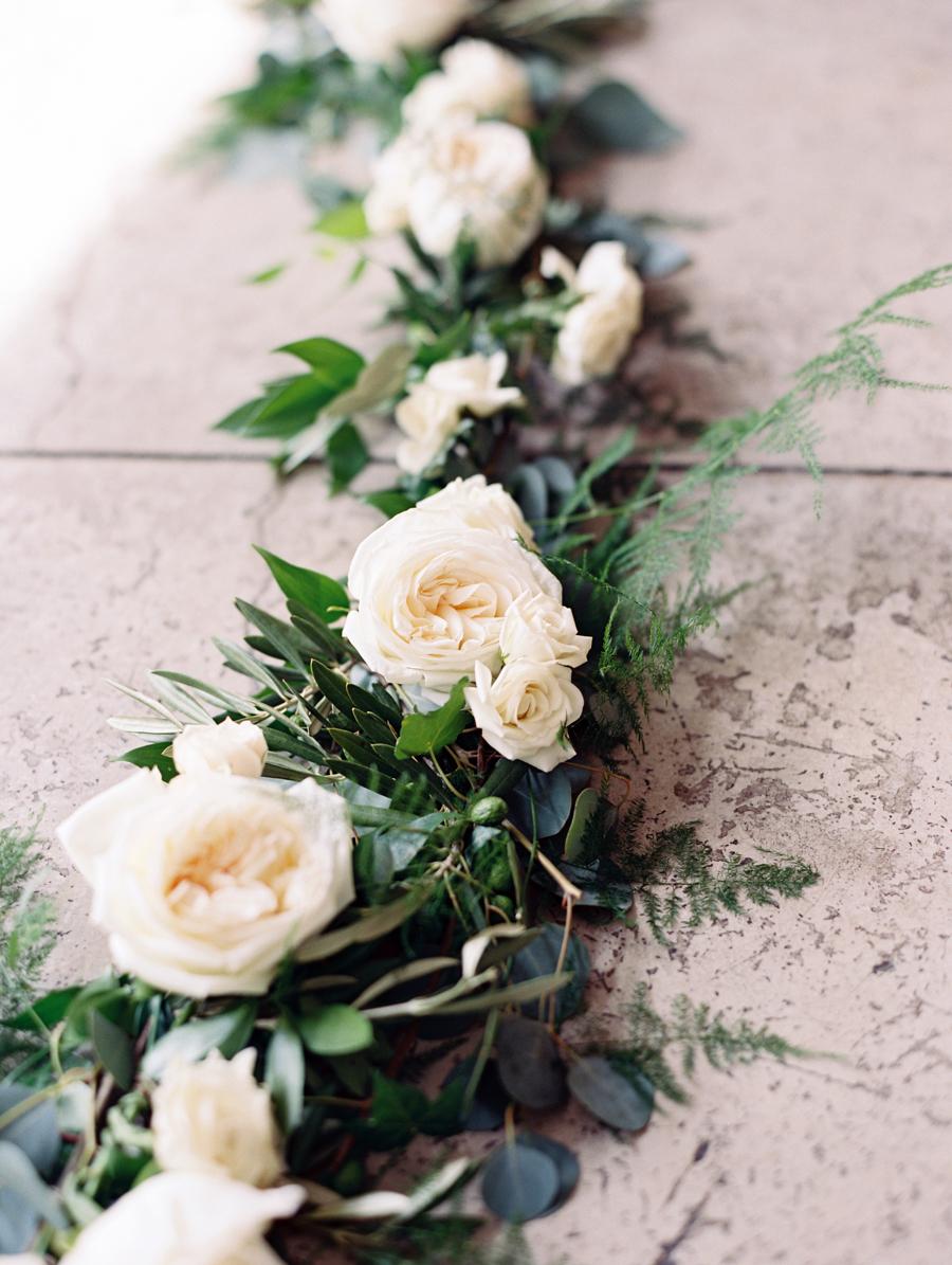 Big Love Wedding Design, Toronto Wedding, Boehmer, ceremony green garland