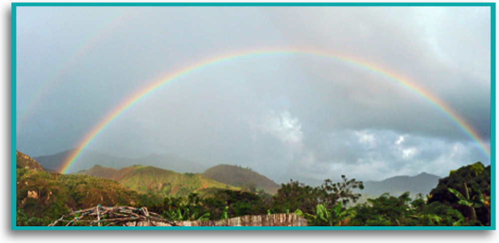 Photo credit: Richard Greenfield (A) Double Rainbow Forming, Vilcabamba, Ecuador