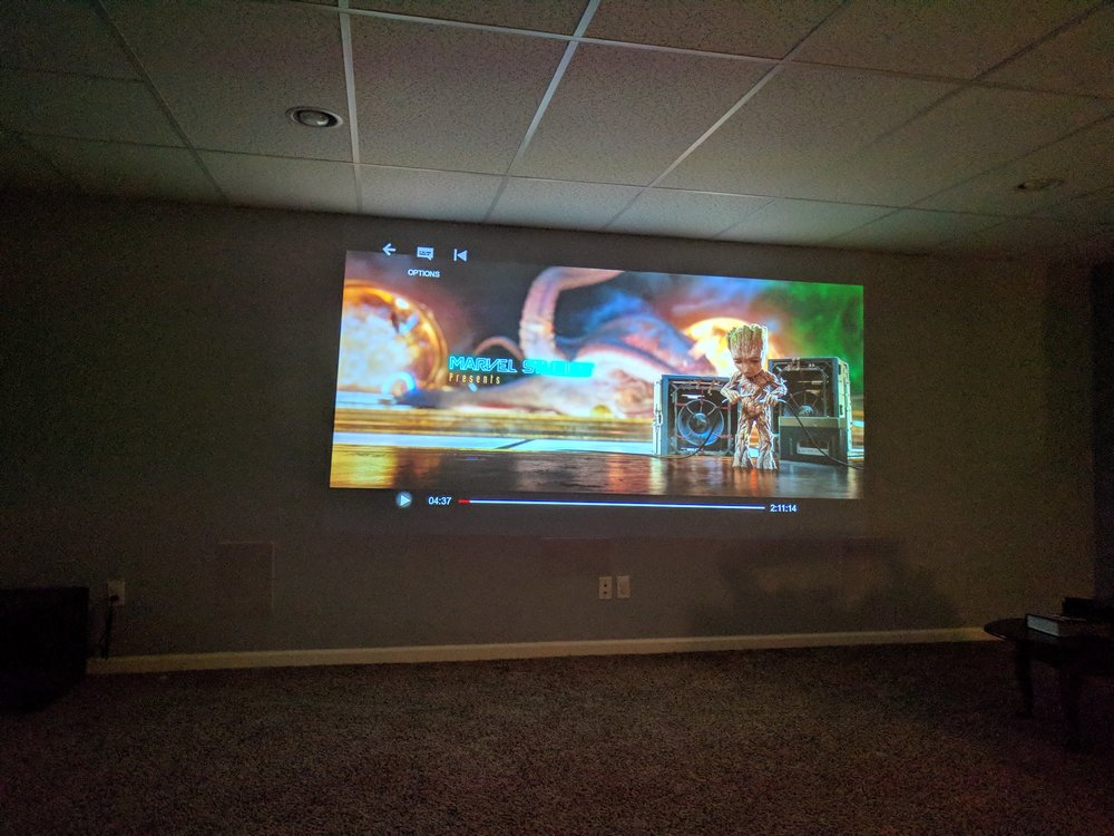 Projector & 5.1 In-wall Surround Sound