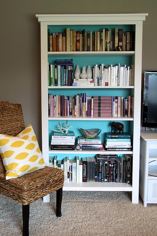 diy bookshelves with bert modern chemistry at home - Painted Bookshelves Ideas