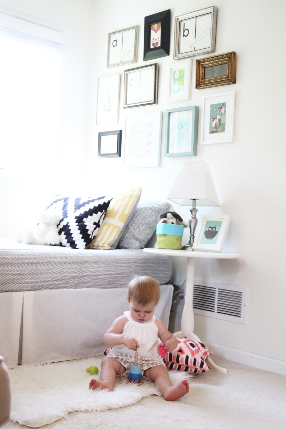 Nursery Reading Nook and Gallery Wall