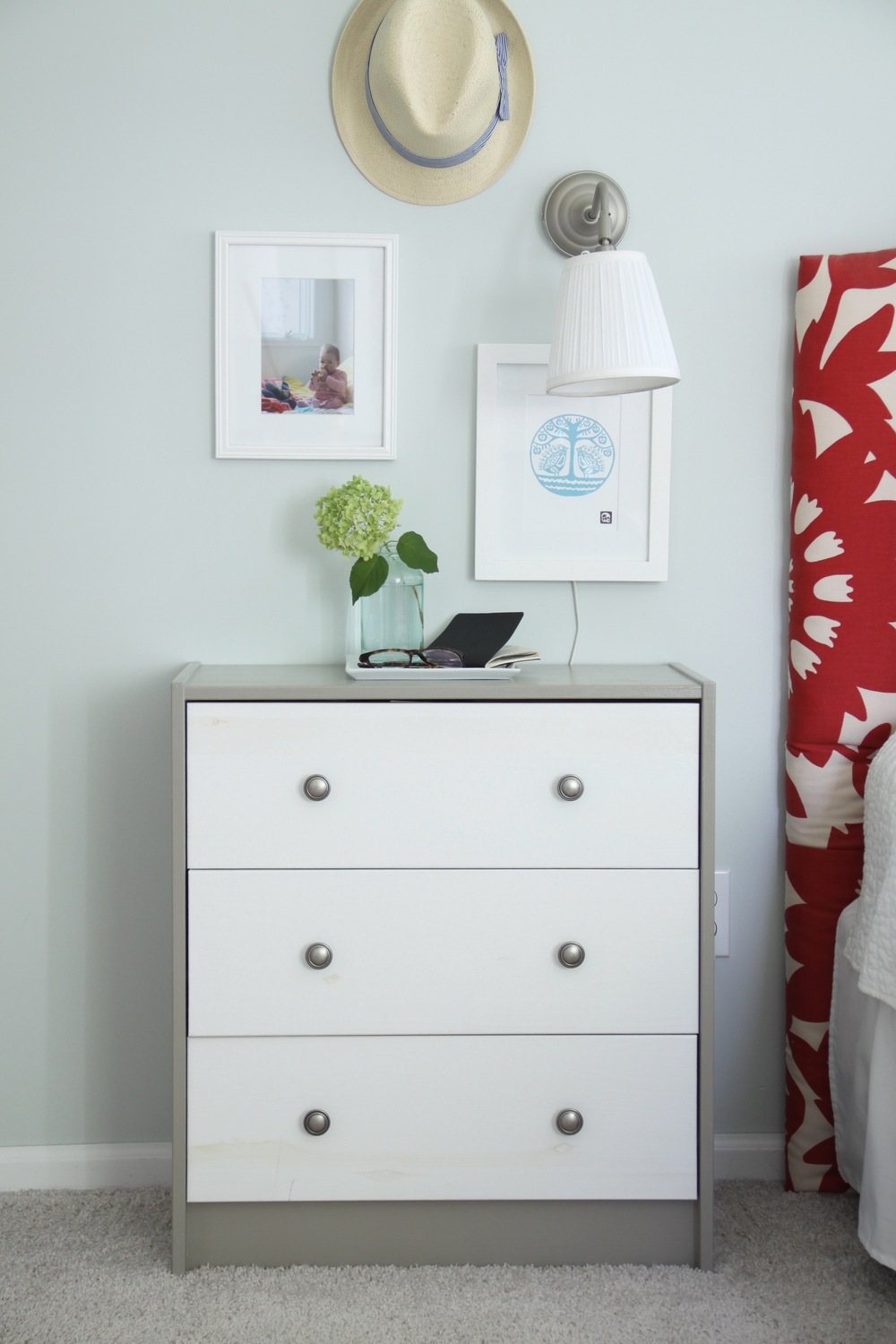 Master Bedroom Healing Aloe DIY Nightstand