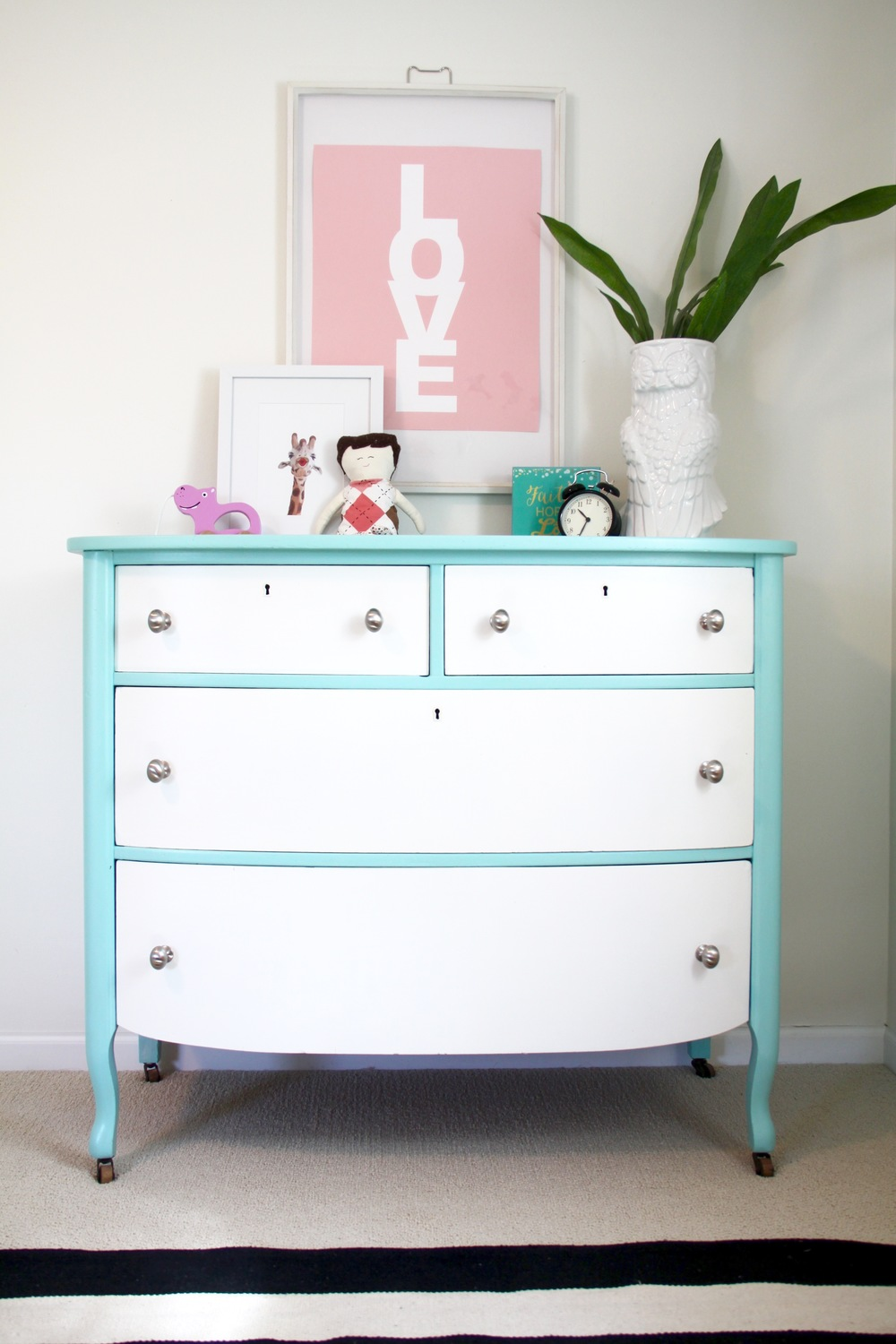 Nursery DIY Painted Dresser